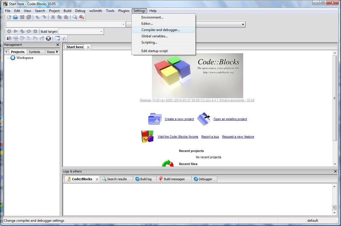 code blocks mingw 10.05